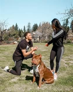 NBA》灌籃王拉文求婚成功 愛犬當見證者