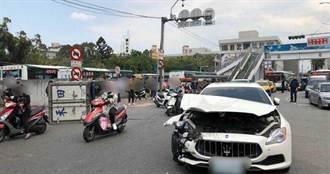 600萬瑪莎拉蒂撞貨車車頭半毀 駕駛身分家境曝光