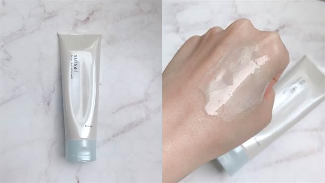 毛孔淨透礦泥皂是泥狀洗顏品,除一般洗臉功能,還可以在臉部乾燥的時候直接厚敷30秒,再依一般洗臉程序清洗,能夠徹底清潔毛孔髒污,NT680元。(圖/邱映慈攝影)