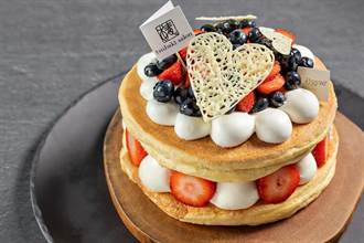 晶華攜TSUBAKI推全台第一個母親節厚鬆餅蛋糕