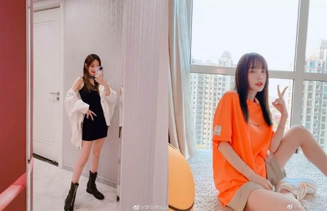 李晨和李小璐愛情長跑5年,他甚至為愛在腿上刺「璐」字。(圖/ 摘自微博@李小璐)