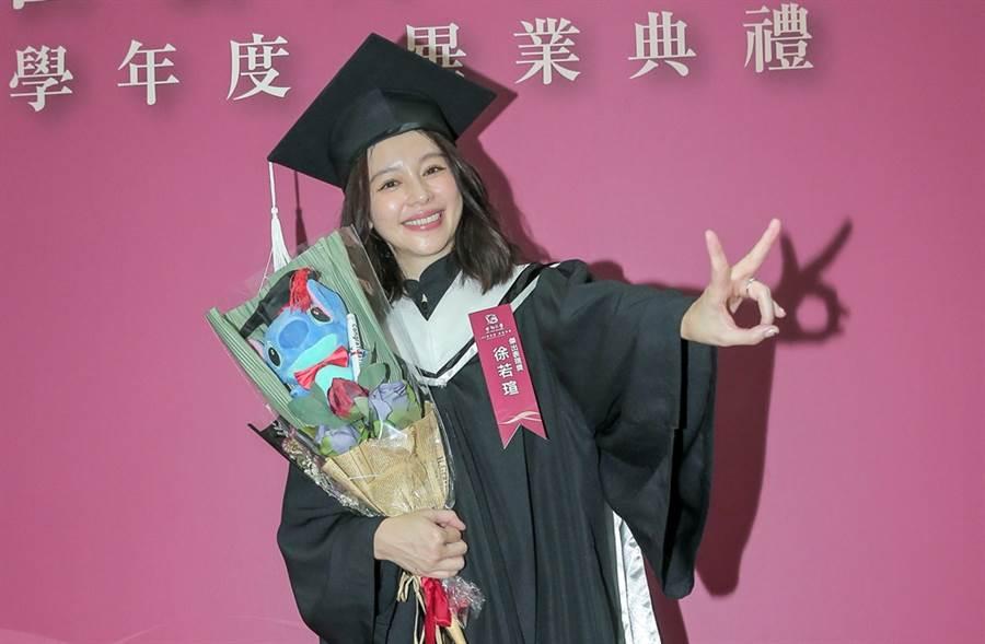 徐若瑄去年完成碩士在職專班學業。(圖/中時資料照片)