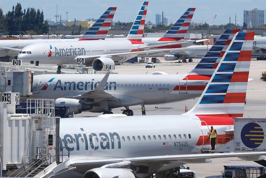 美國航空業需求除非在第二季之後逐漸回溫,否則政府紓困金恐怕不夠用。圖/美聯社
