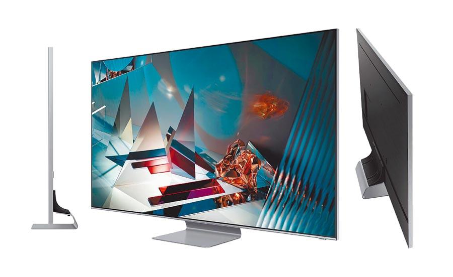 三星今年推出入門款的QLED 8K量子電視Q800T,65吋定價15萬9900元。(三星提供)
