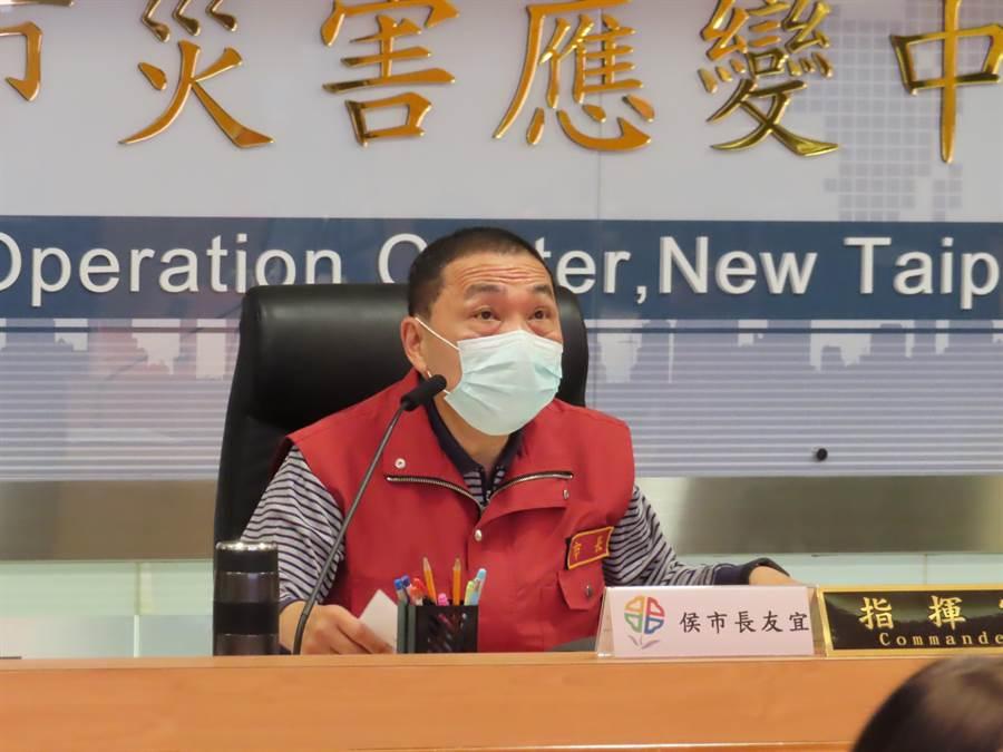 侯友宜說,下周兵棋推演,是全國第一次做傳染病大封鎖前的超前部署。(葉德正攝)