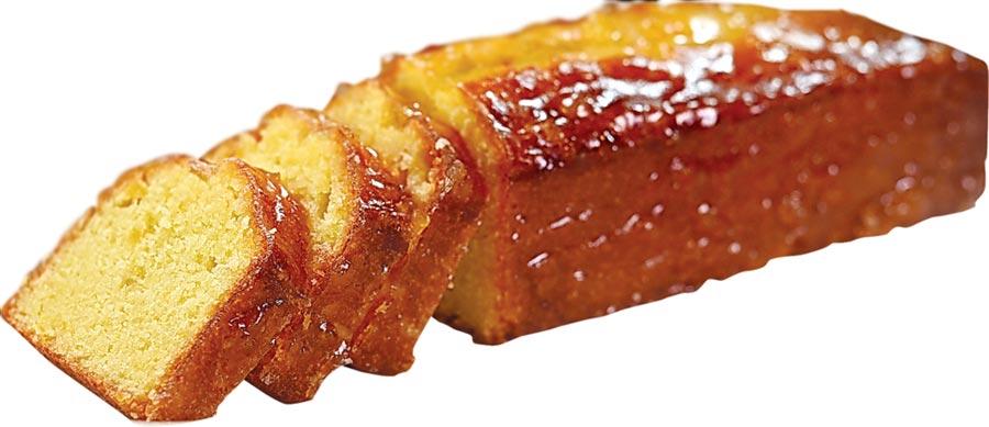〈柚子磅蛋糕〉的賞味重點是使用日本柚子汁與柚子果粒,吃來有柚子清香。圖/姚舜