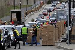 美國2000萬人失業 上萬輛車排隊領食物