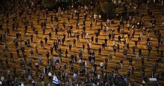 保持社交距離、戴口罩 以色列人上街抗議不忘防疫