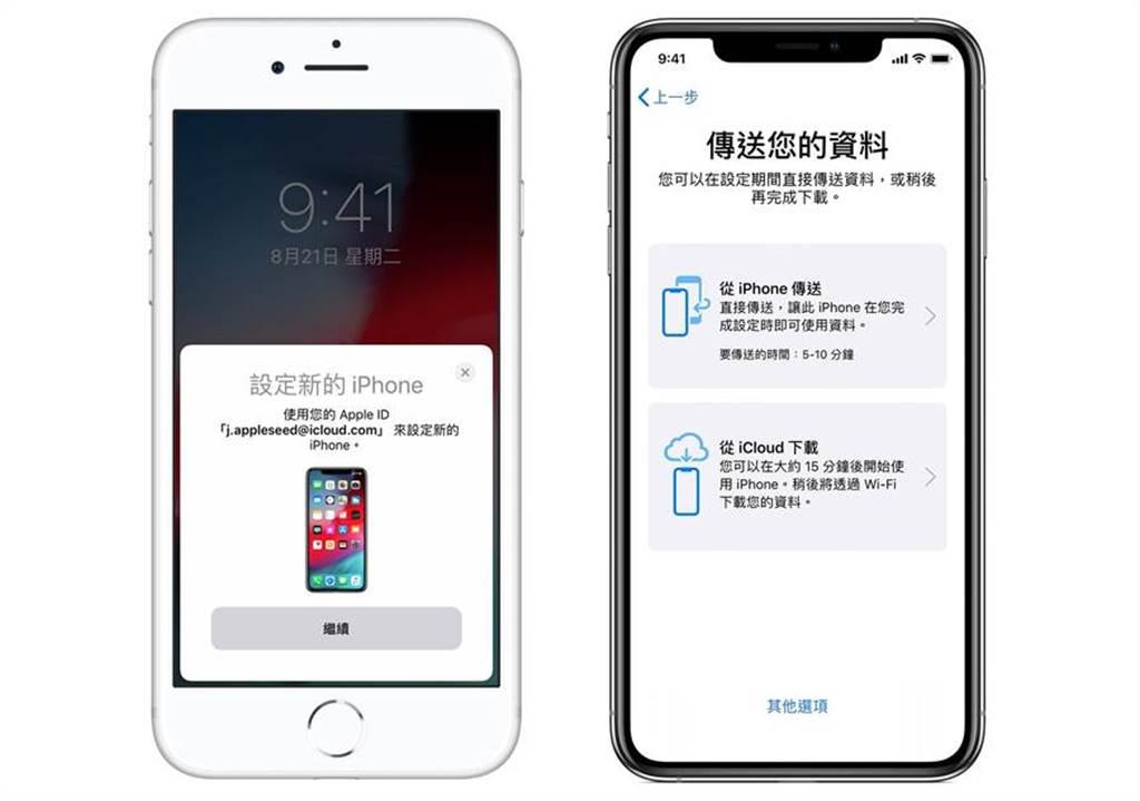 透過 iOS 12.4,蘋果加入全新 iPhone 移轉功能 。(摘自蘋果官網)