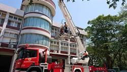 防範高樓災害 南市消防局辦雲梯消防車訓練