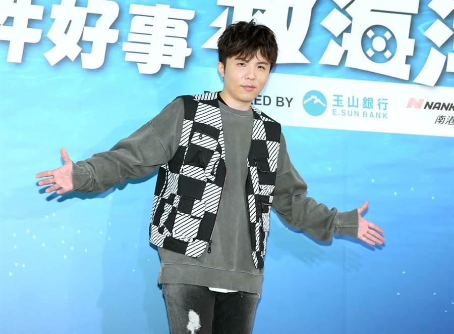 小宇在記者會發表創作公益曲《臉》。(粘耿豪攝)