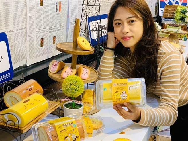 (全聯We Sweet首度攜手三麗鷗賣萌,推出6款聯名包裝甜點,好吃、好看也好拍!圖/業者提供)