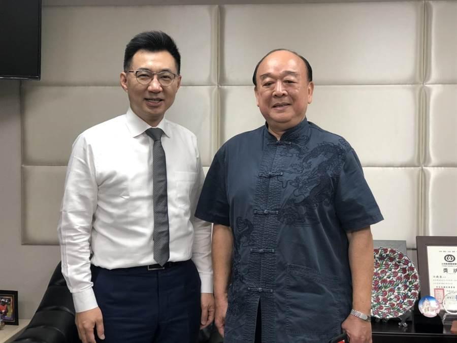 國民黨主席江啟臣曾與吳斯懷溝通問政方式。(國民黨提供)