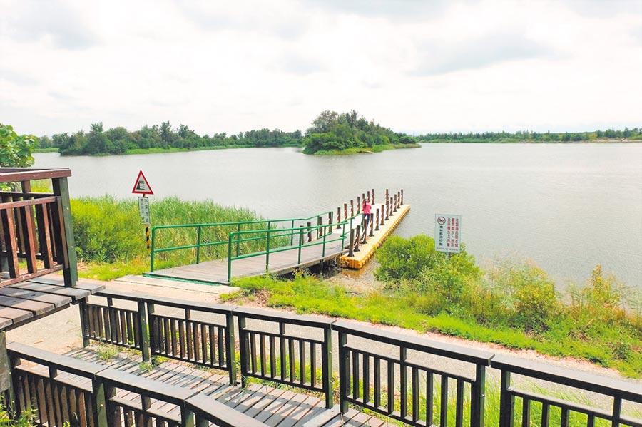 雲林縣政府規畫宜梧滯洪池,打造水域休閒產業。(張朝欣攝)
