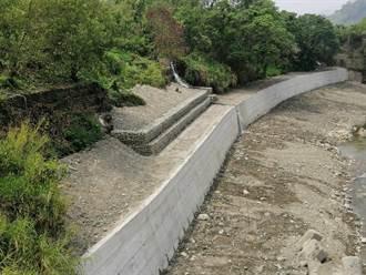 填補防汛缺口 沙連溪校栗埔橋下游左岸復建完工
