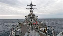 美艦貝瑞號本月二度航經台海 清晰畫面曝光