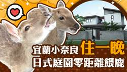 【玩FUN飯】宜蘭小奈良住一晚 日式庭園零距離餵鹿