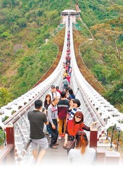 5月起山川琉璃吊橋 周一免費入場攝影