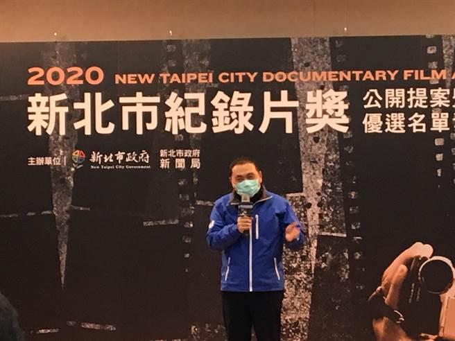 新北市長侯友宜今日出席活動,表示面對疫情全力做好自己的工作,就沒有問題了。(賴彥竹攝)