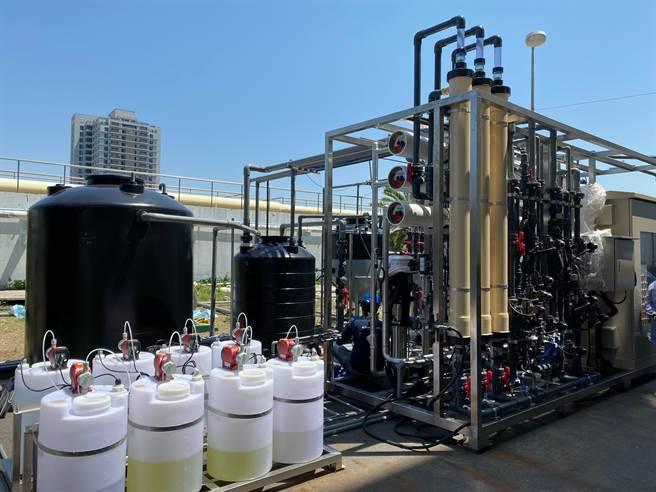 台南安平再生水廠投標廠商需先進行30天平行測試,驗證其高品質再生水處理能力。(台南市水利局提供/劉秀芬台南傳真)