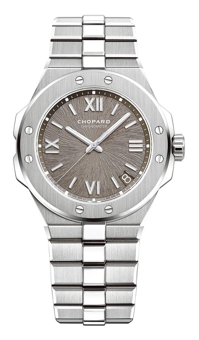 蕭邦Alpine Eagle自動上鍊精鋼腕表,42萬8000元。(CHOPARD提供)