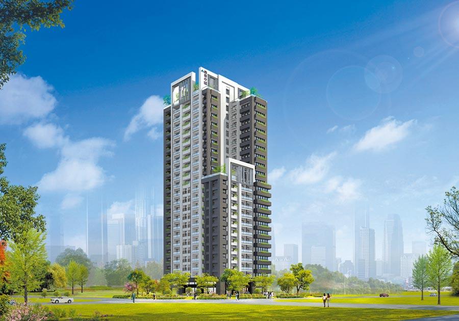 台中市「東海戲院」將豪華變身為22層大樓-「鼎泰中城」,再創中區高峰。圖/黃繡鳳