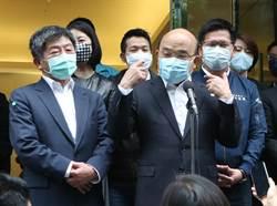 行政院長蘇貞昌視察台北市防疫旅館
