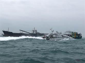 陸籍抽砂船出沒莒光海域  馬祖海巡隊4小時驅離8艘