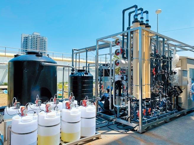 台南安平再生水廠投標廠商須先進行30天平行測試,驗證其高品質再生水處理能力。(台南市水利局提供/劉秀芬台南傳真)