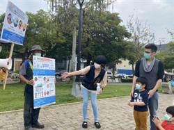 中市建設局7公園走動式宣導防疫 民眾按讚
