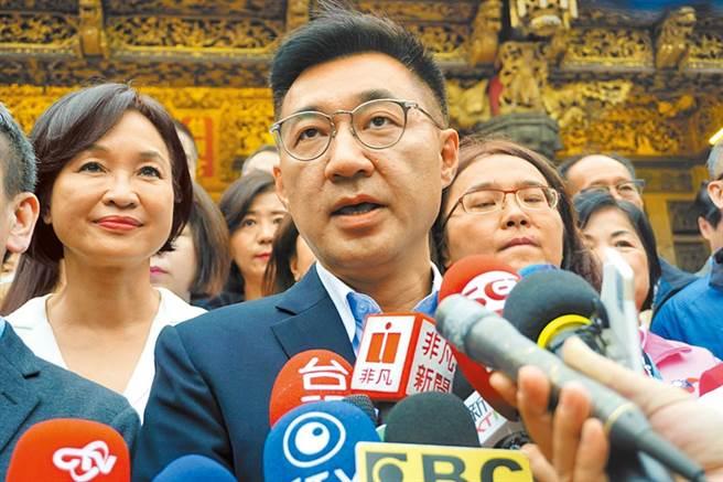 圖為國民黨黨主席江啟臣。(本報資料照片)