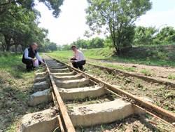 台南柳營區公所蓋自行車道 讓百年糖鐵鐵軌重見天日