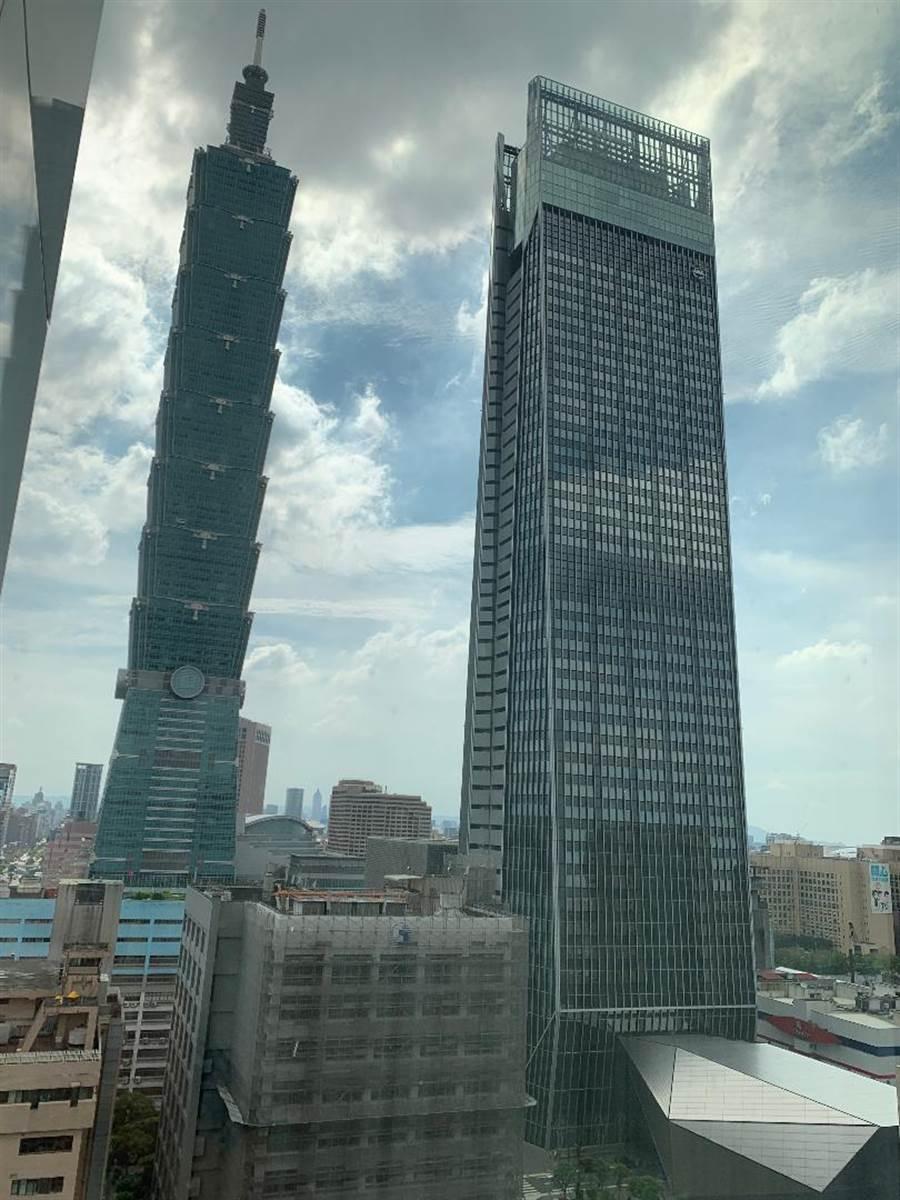 疫情干擾不動產投資布局,但台北市頂級辦公大樓市場還是最夯!最被看好。(圖/蔡惠芳攝)