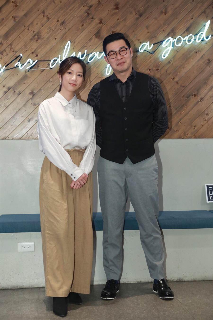 陳妤、馬力歐宣傳《國際橋牌社》。(公視提供)