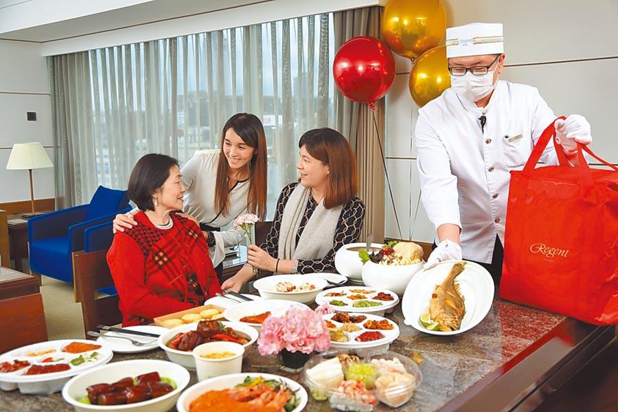 往年母親節餐廳一位難求,現在訂位只有2、3成,多家飯店更推出美食送到府服務,爭取生意。(台北晶華酒店提供)