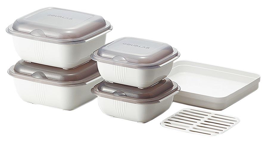 PChome 24h購物的GOURLAB多功能烹調盒系列6件組,原價2380元,30日前享特價1668元。(PChome 24h購物提供)