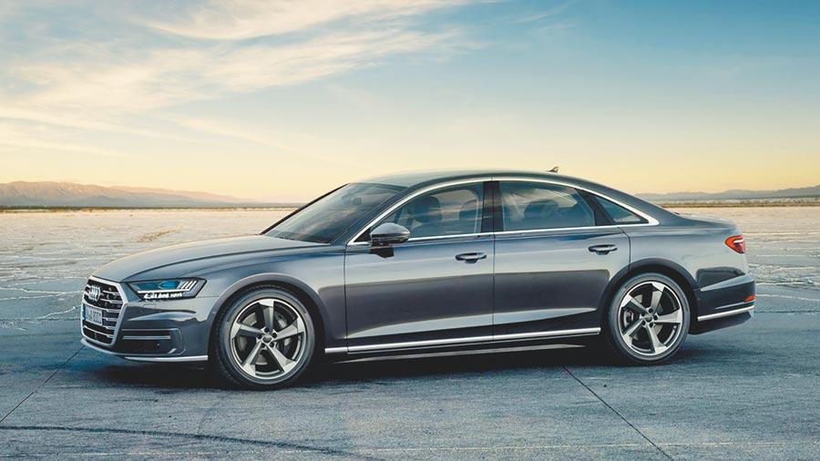 Audi A8旗艦房車。(Audi Taiwan提供)