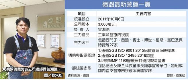 德盟最新營運一覽  德盟儀器製造公司總經理曾湘德。圖/劉朱松