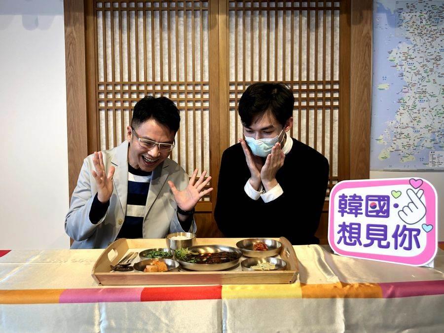 韓國觀光公社 台北支社Free@KOREA臉書粉絲頁,首集就邀請到了旅遊作溫士凱來到Korea Plaza介紹韓國美食。(韓國觀光公社 提供)