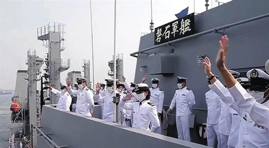 海軍磐石艦上爆發新冠肺炎群聚感染。(示意圖為磐石艦。軍聞社)