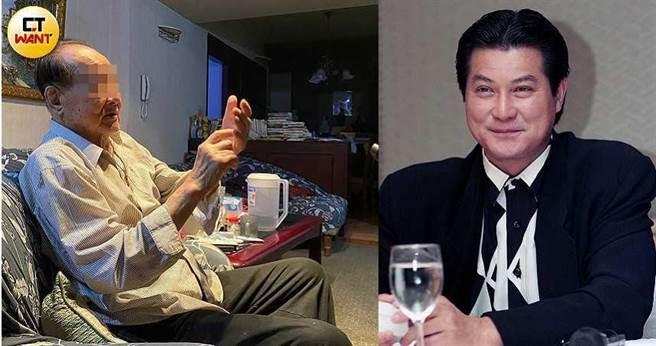 身高190公分的王男年輕時被說很像型男港星鄧光榮(右),當年風流倜儻,喝酒跳舞天天報到。(圖/張文玠攝、報系資料照)