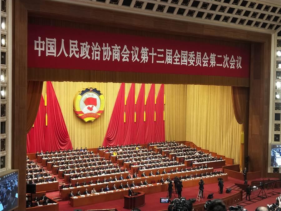大陸今年全國兩會時間,將於521舉行政協會議,522召開人大會議。圖為去年全國政協會議。(資料照,陳君碩攝)