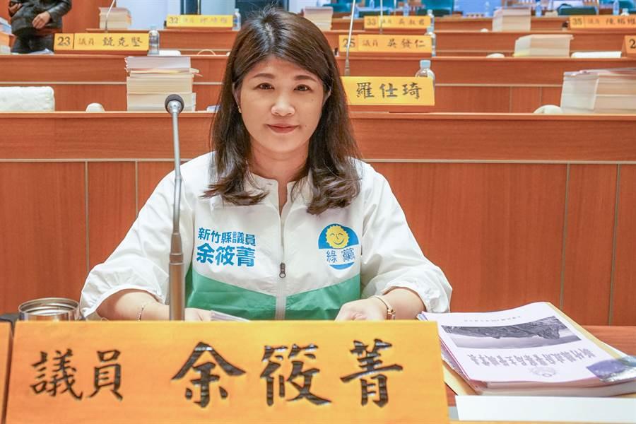 綠黨縣議員余筱菁又出包,在縣議員上官秋燕告她誹謗後,縣議員張益生也要告她誹謗。(羅浚濱攝)