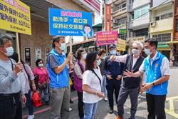 五一連假前夕 縣府交旅處到北埔老街商圈宣導防疫