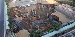 桃園文化公園停車場工程坍塌 1女工人受困搜索中