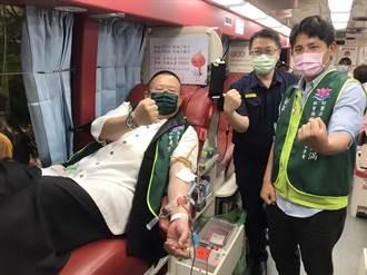響應浴佛節捐血活動平鎮警挽袖捐熱血