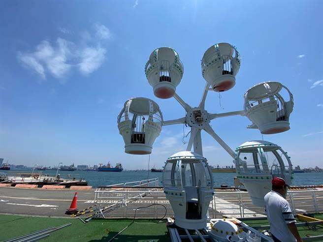 棧貳庫打造全新網美景點「氣球飛輪」5/1登場。(柯宗緯攝)