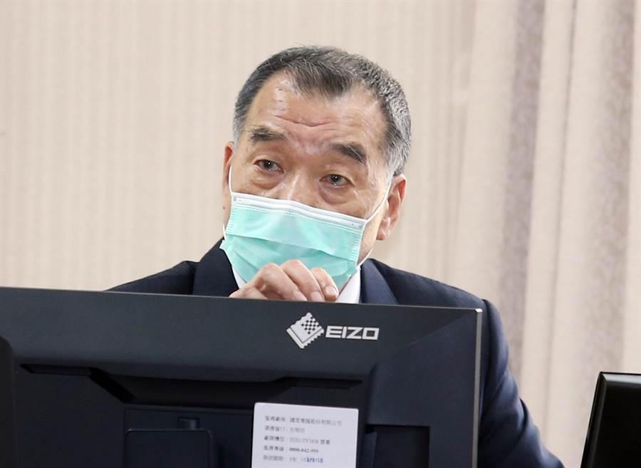 國安局長邱國正30日在立法院答詢。(姚志平攝)