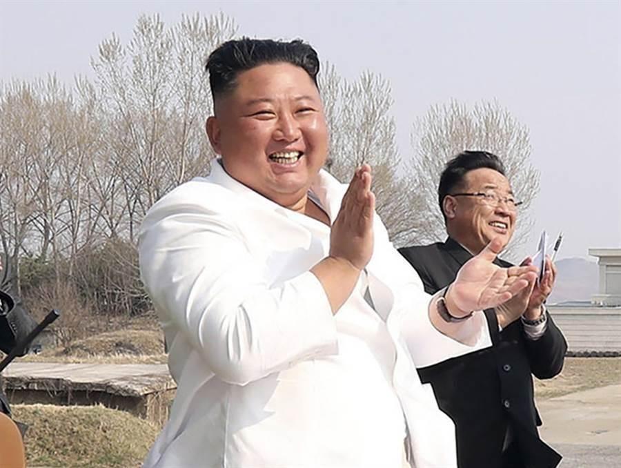 北韓最高領導人金正恩。(朝中社)