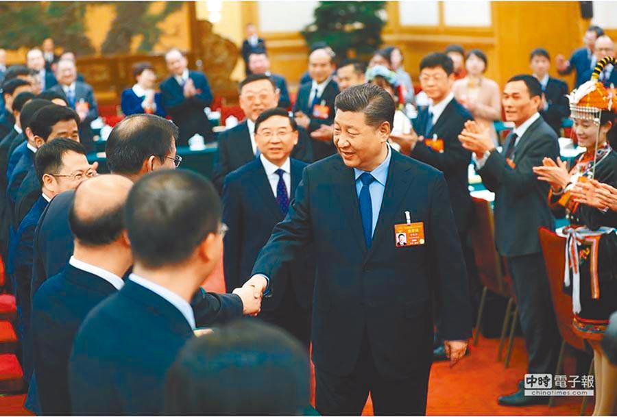 2019年3月10日,中共中央總書記習近平參加十三屆全國人大二次會議福建代表團審議。(取自央視網)